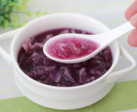 果蔬百科银耳紫薯汤做法大全